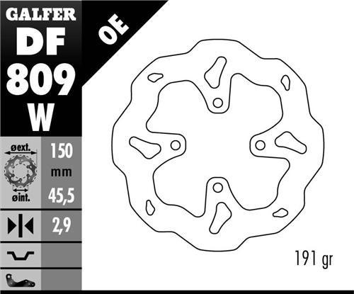 Trial Enduro Shop Bremsscheibe Hinten MONTESA Typ: 315, COTA 4 RT, Cota 4 RT 260/RR300,