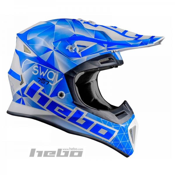 Hebo Fiberglas Helm Blau