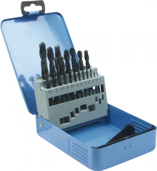 Spiralbohrersatz DIN 338 Typ N Nenn-D. 1-10x0,5 mm HSS 19 teilig Metallkassette