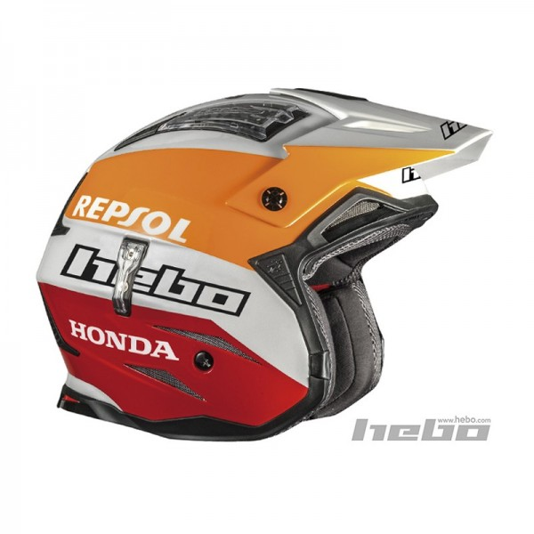 Trial Enduro Shop Hebo Zone 4 Repsol Fiberglas Helm
