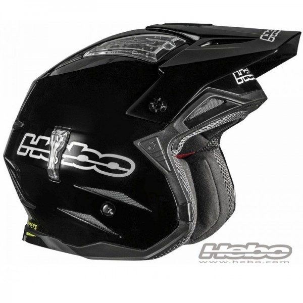 Trial Enduro Shop Hebo Zone 4 Fiberglas Helm Schwarz