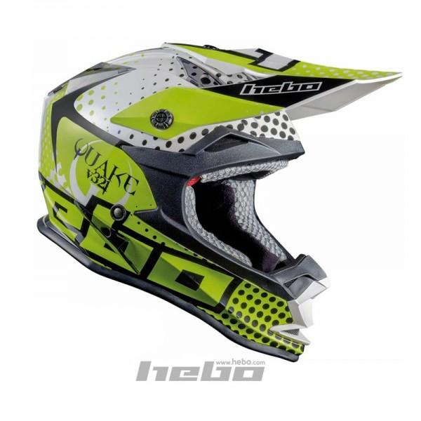 Hebo Kinder Enduro Helm Junior Quake Grün