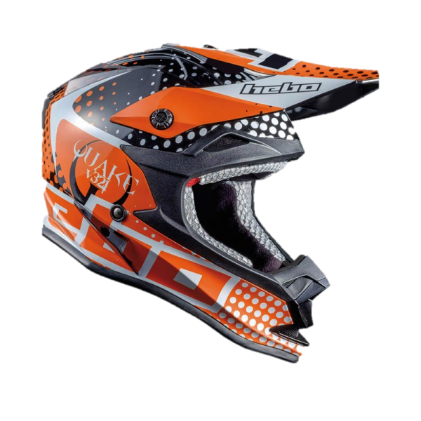 Hebo Kinder Enduro Helm Junior Quake Orange